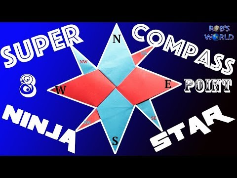 How to Make a Super 8-Point Ninja Star (Compass Star) - Easy