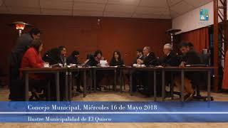 Concejo Municipal Miércoles 16 de Mayo