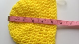 Crochet a Simple Baby Beanie for newborn's 0-6 months