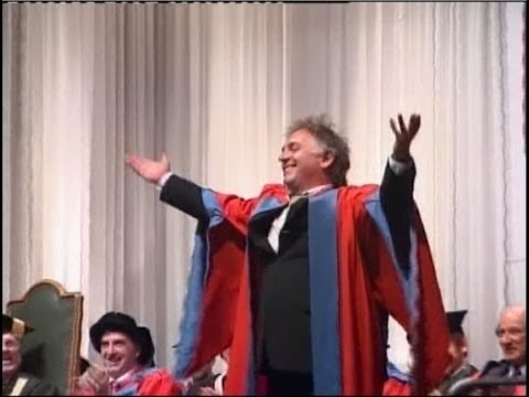 Rik Mayall receives an honorary Doctorate from the University of Exeter