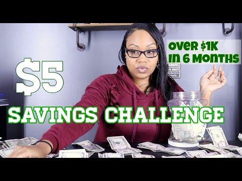 6 Month Savings Challenge (2019) | $5 Dollar Challenge | Ways To Save Money