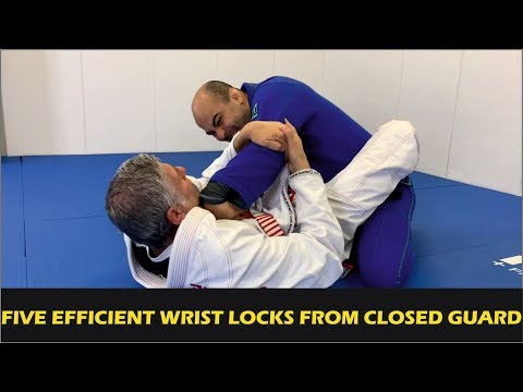 "Five Efficient Wrist Locks From BJJ Closed Guard by Márcio ""Macarrão"" Stambowsky"