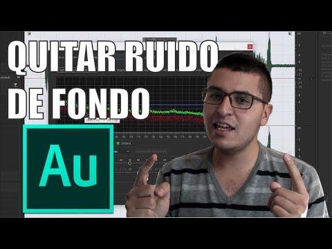 Cómo quitar ruido de fondo a un audio - Audition CC   Español 2017