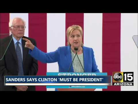 Hillary Clinton thanks Bernie Sanders supporters in New Hampshire