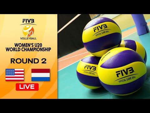 USA vs. NED - Full Match | Round 2 | Women's U20 Volleyball World Champs