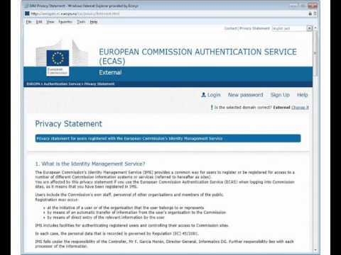 ECAS Registration