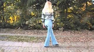 70S OOTD // Bootcut jeans, heels & stripes