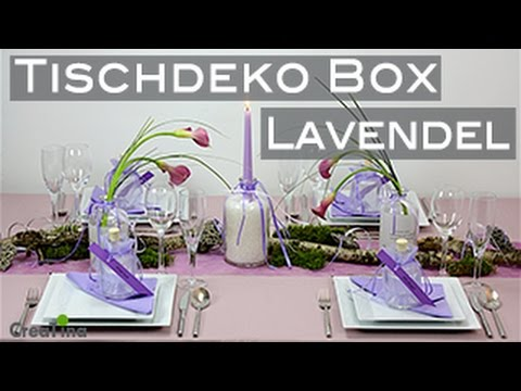 tischdeko box lavendel tischdeko tischdekoration tischdeko diy youtube. Black Bedroom Furniture Sets. Home Design Ideas
