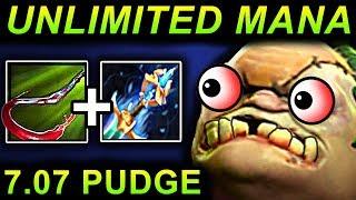 unlimited mana pudge dota 2 patch 7 07 new meta pro gameplay
