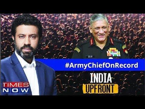 Army Chief Bipin Rawat breaks his silence   India Upfront With Rahul Shivshankar