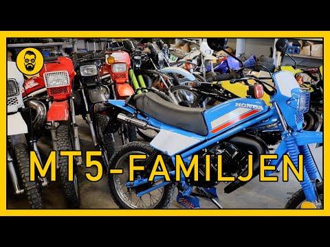 Familjen som älskar trimmade Honda MT5-mopeder.