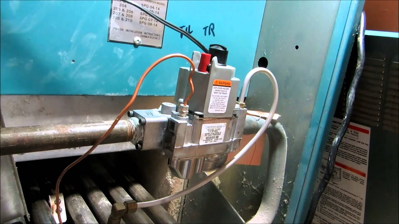 gas boiler with high c.o. levels fixed - YouTube