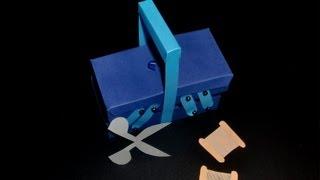 Nähkästchen Aus Papier: Sewing Basket Paper-art - Tutorial [hd/deutsch]