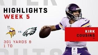 Kirk Cousins Highlights vs. Eagles