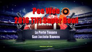 2016 - TIFI - Pee Wee Superbowl Final