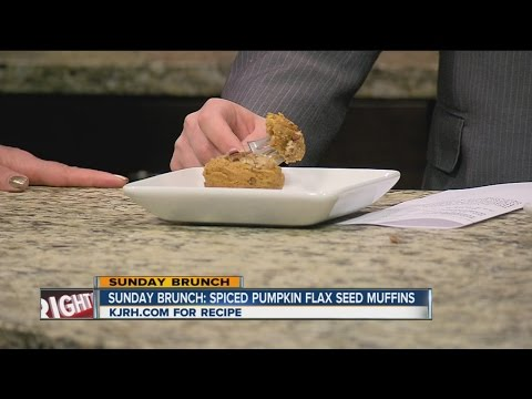 Sunday Brunch: Pumpkin Spice Flax Seed Muffins