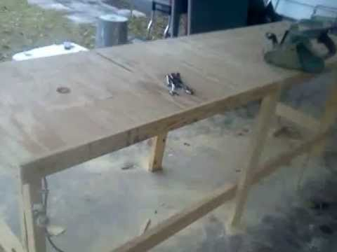 Homemade Woodworking Bench Router And Table Saw In Bench