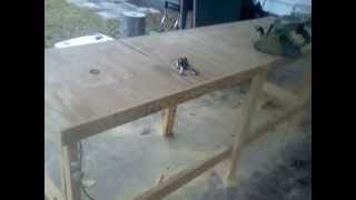 Homemade Woodworking Bench (router And Table Saw In Bench)