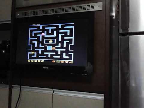 7800 PMC Five Ms Pac Man Plus Off Fast Button Cherries On NTSC Console