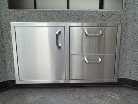 BBQ Outdoor presents Diablo Products Stainless Steel Door Drawer Combo