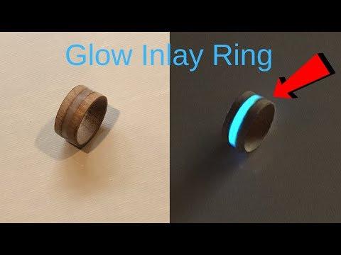 Making a glow inlay wood ring
