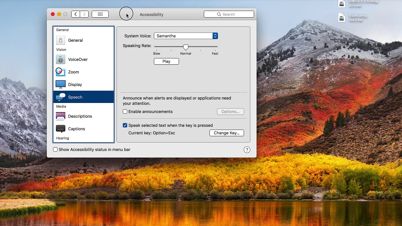 How to Setup Text To Speech on macOS High Sierra VERY EASY