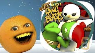 Annoying Orange Plays - STUPID GANG! (Hilarious derpy fighting)