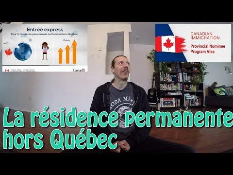 Immigrer au Canada : la résidence permanente hors Québec