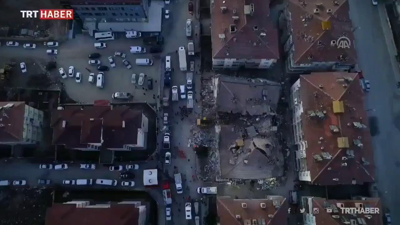 #Elazığ #Deprem  Elazığ depremindeki hasar havadan görüntülendi