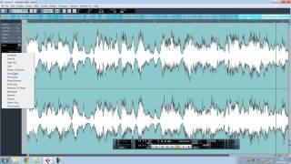 как сдвинуть аудио на тон в Cubase 5