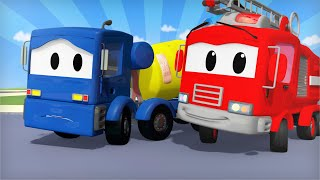 Car Patrol -  Edgar the Excavator's Mistake - Car City ! Police Cars and fire Trucks for kids