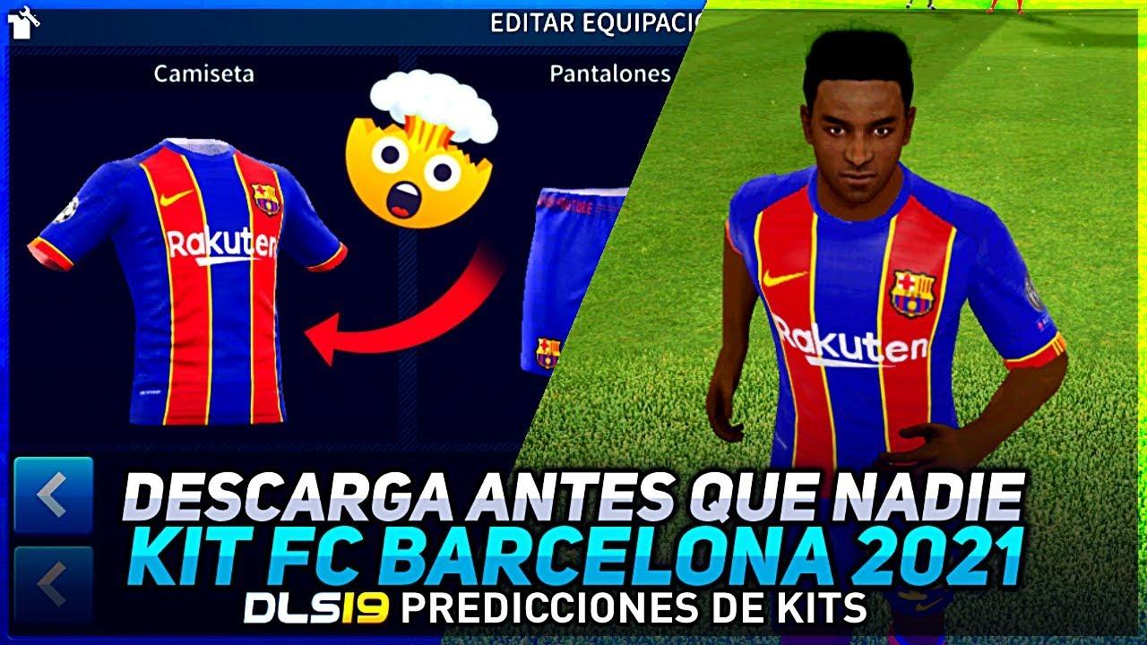 KIT FC BARCELONA 2021 DREAM LEAGUE SOCCER - YouTube
