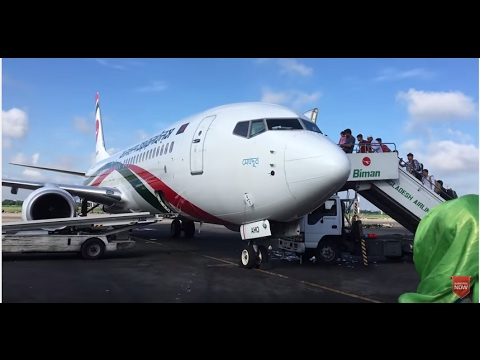 Biman Bangladesh Airlines B737-800 Flight from Dhaka to Singapore Changi Int Airport.
