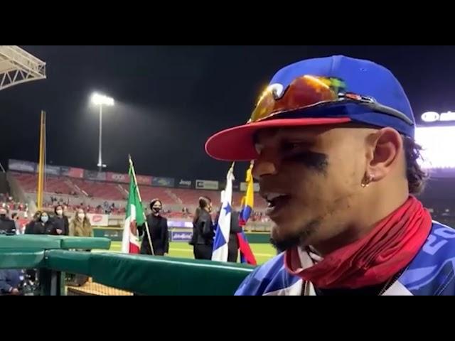 Entrevista post-juego con Juan Lagares, héroe ofensivo de las Águilas Cibaeñas