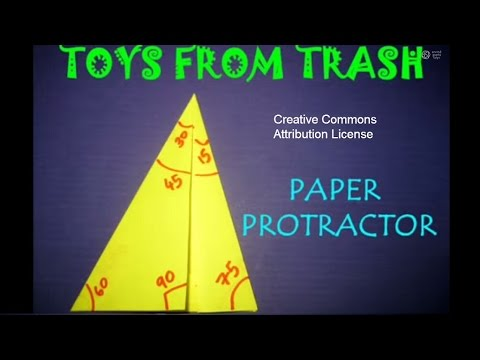 PAPER PROTRACTOR - TAMIL - Fold protractor, measure angles!