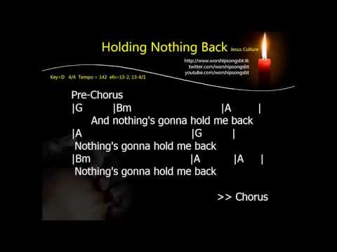 Holding Nothing Back Karaoke, backing track, cover (D key)