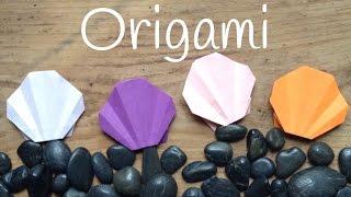 Concha marina de papel | Origami fácil para niños