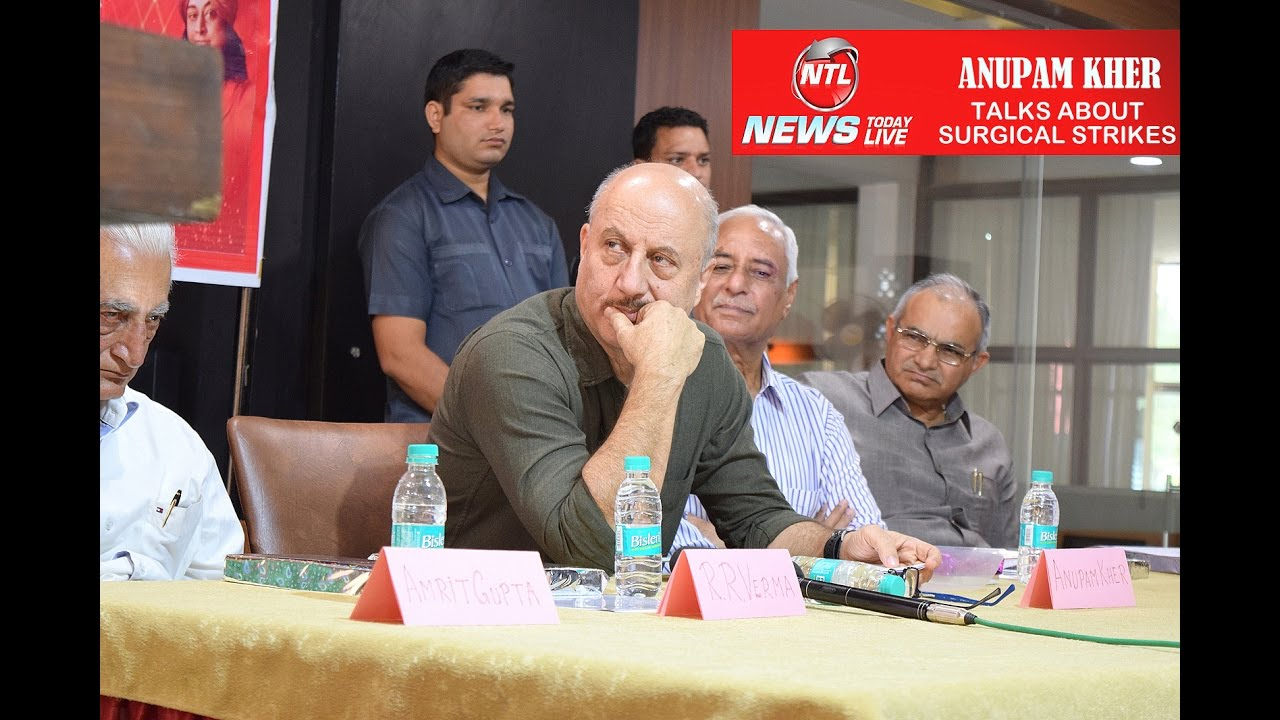 News Today Live Anupam Kher अनपम खर Speaks About