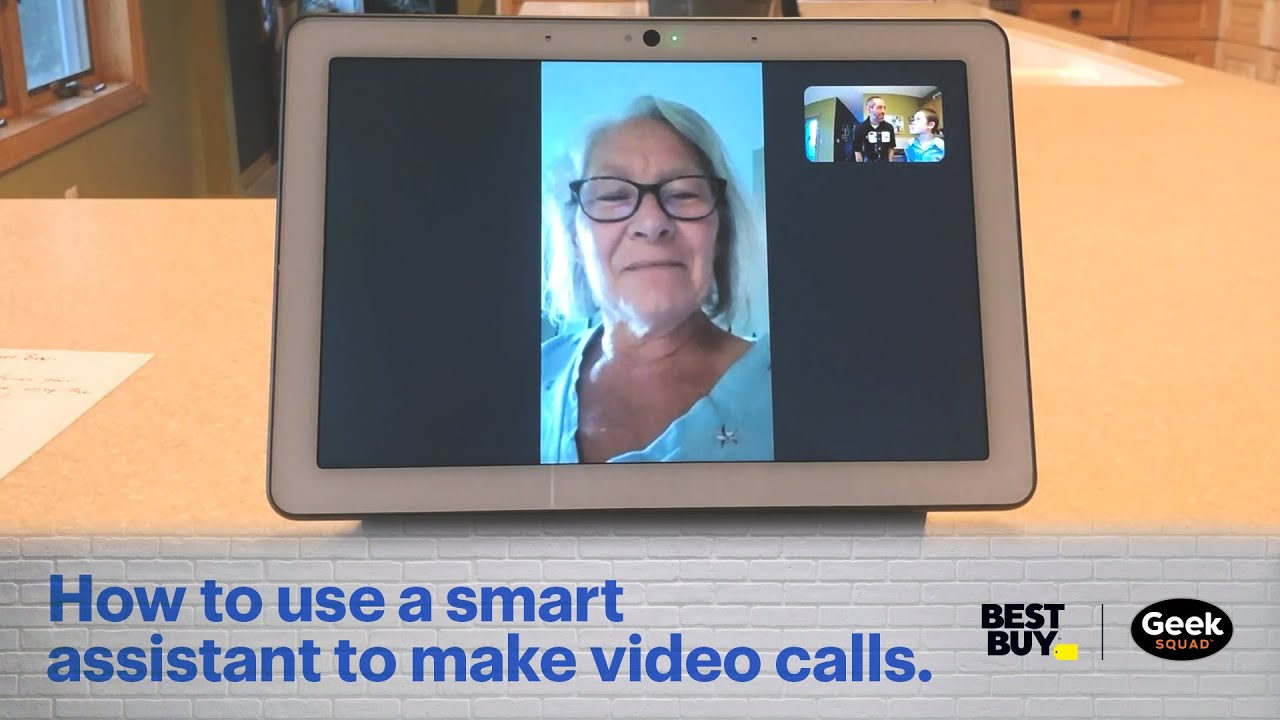 Tech Tips Remote: How to use a smart assistant to make video calls.