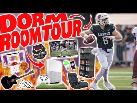 COLLEGE FOOTBALL PLAYER DORM ROOM TOUR! | *2019*