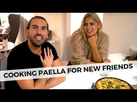 MAKING PAELLA AND SPANISH TAPAS –  COOKING FOR FRIENDS – FOOD FRIDAY FOOD VLOG