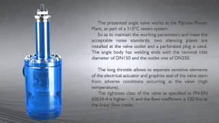 Angle valve type Z1A to control the flow of steam