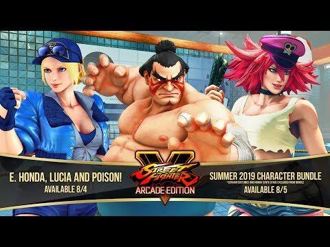 Street Fighter V: Arcade Edition – E. Honda/Lucia/Poison Gameplay Trailer