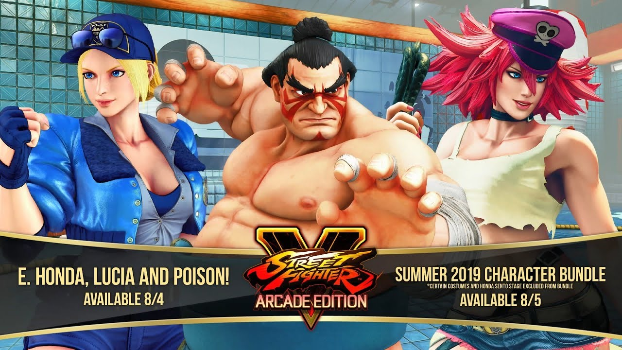 Street Fighter V Arcade Edition E Honda Lucia Poison Gameplay