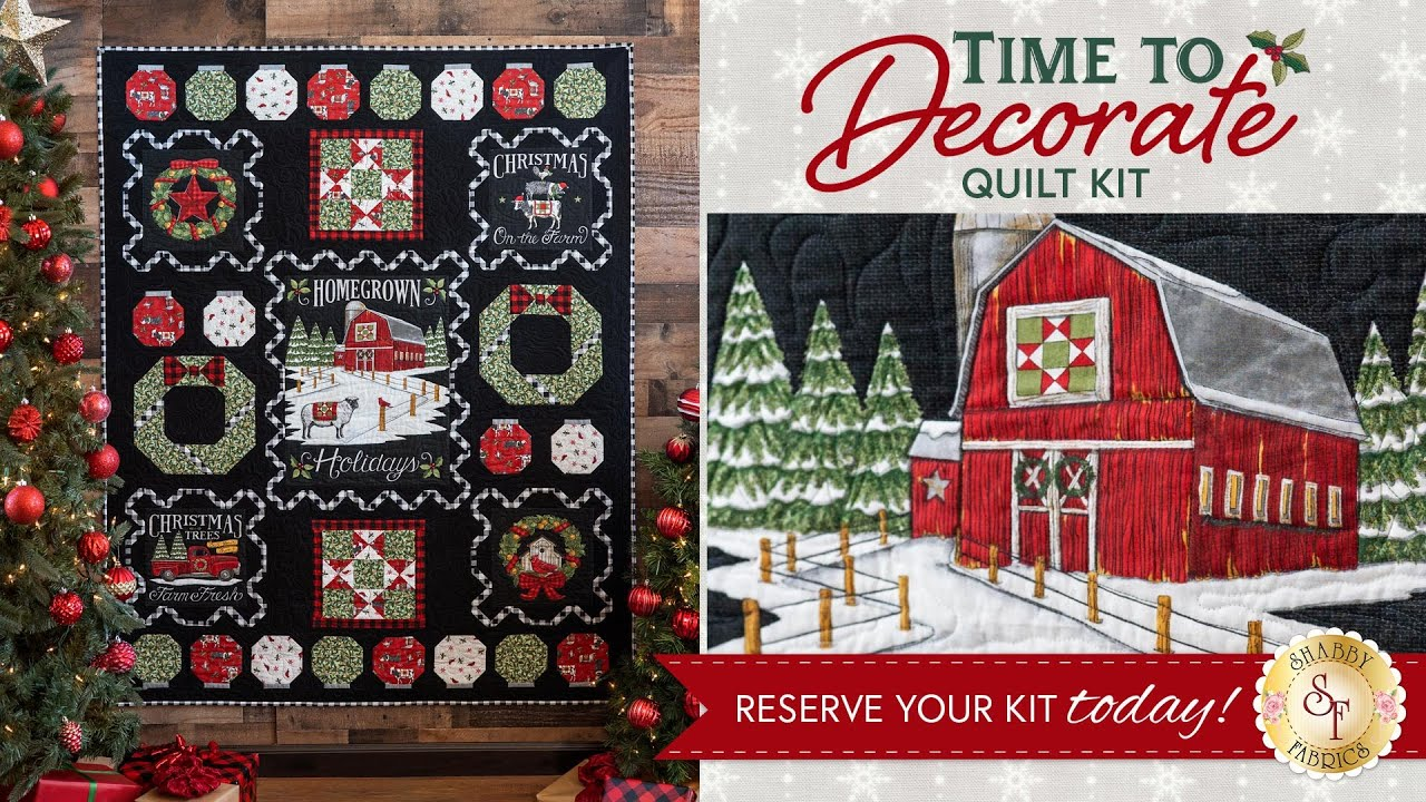Introducing: Time To Decorate Quilt Kit | Available at Shabby Fabrics