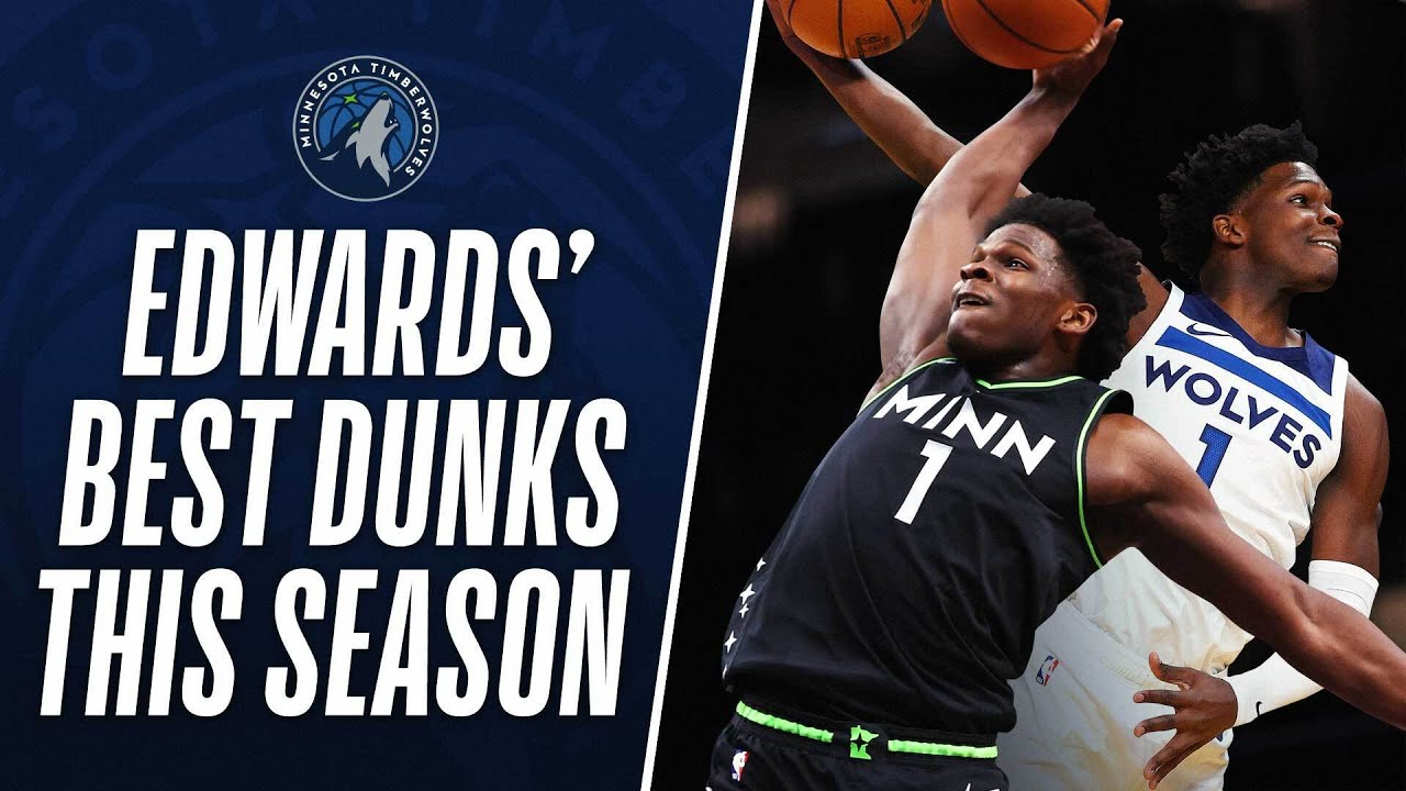 Download Anthony Edwards' BEST DUNKS From His Rookie Season So Far!