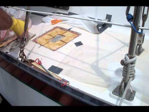 Repairing a Soft Sailboat Deck