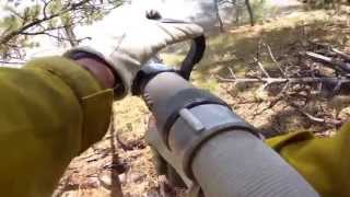 Raw Footage Firefighter POV Camera Black Forest Fire 2013