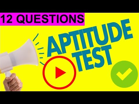 12 x IQ & Aptitude Test Questions (PASS YOUR TEST!)