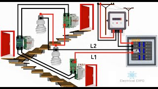 4 WAY SWITCH WIRING DIAGRAM multiple lights (Tagalog) ,Electrical Expo